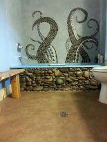 Amazing Rock Wall Bathroom You Need to Impersonate 17