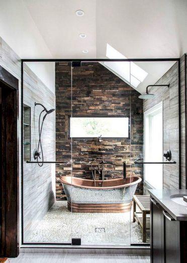 Amazing Rock Wall Bathroom You Need to Impersonate 20