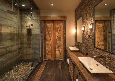 Amazing Rock Wall Bathroom You Need to Impersonate 7