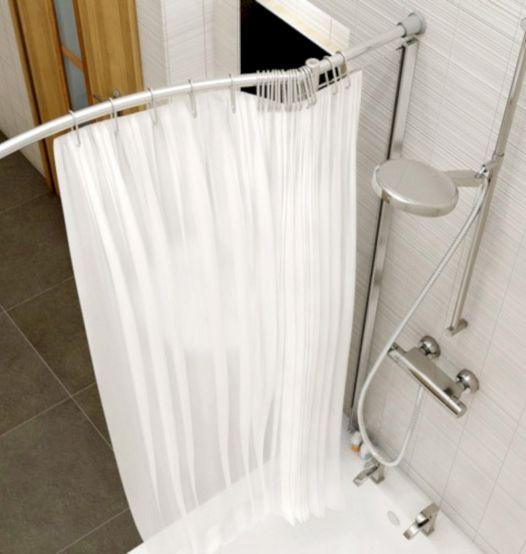 Bath Shower Curtain Rail Over