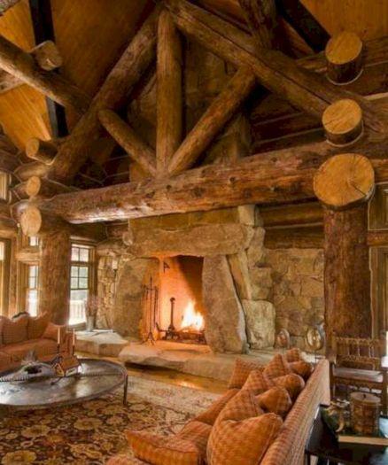 35+ Incredible Cabin Ideas For Cool Living Room Design – DECOREDO