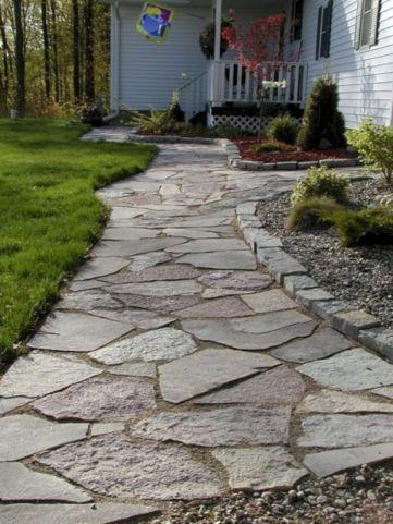 Concrete Sidewalk Front Yard