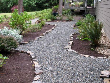 50 Marvelous Backyard Rock Pathway To Enhance Your