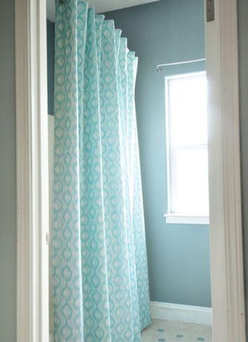 DIY Bathroom Shower Curtains