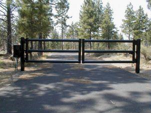 Farm Pipe Fence Entrance Gate