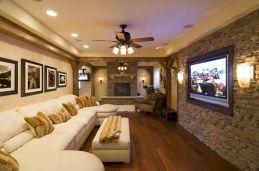 Finished Basement TV Room