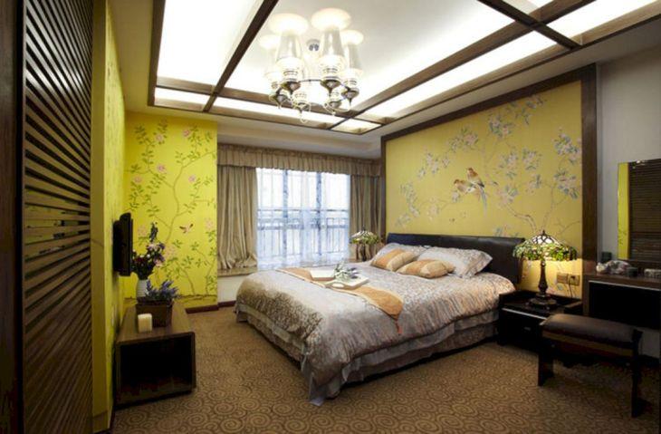 Yellow Aesthetic Wall Bedroom Design