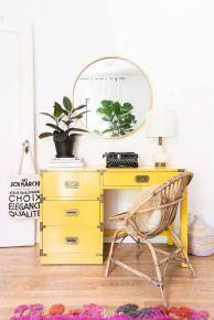 Incredible Yellow Aesthetic Bedroom Decorating Ideas 35