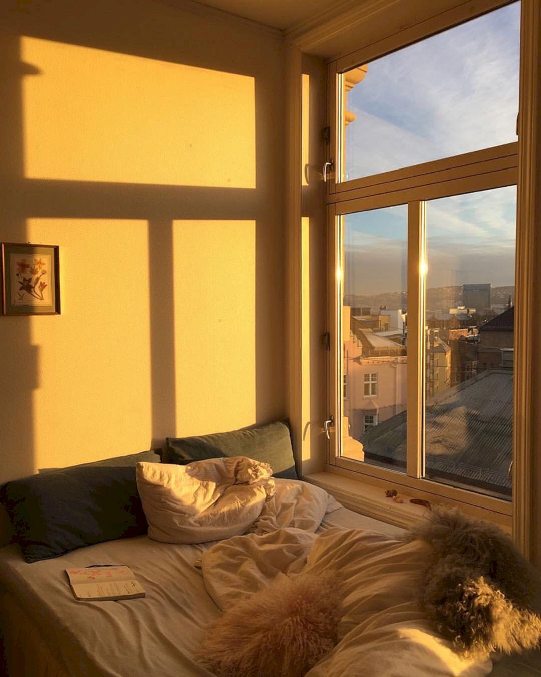 Incredible Yellow Aesthetic Bedroom Decorating Ideas 38 ... on Room Decor Aesthetic id=59956