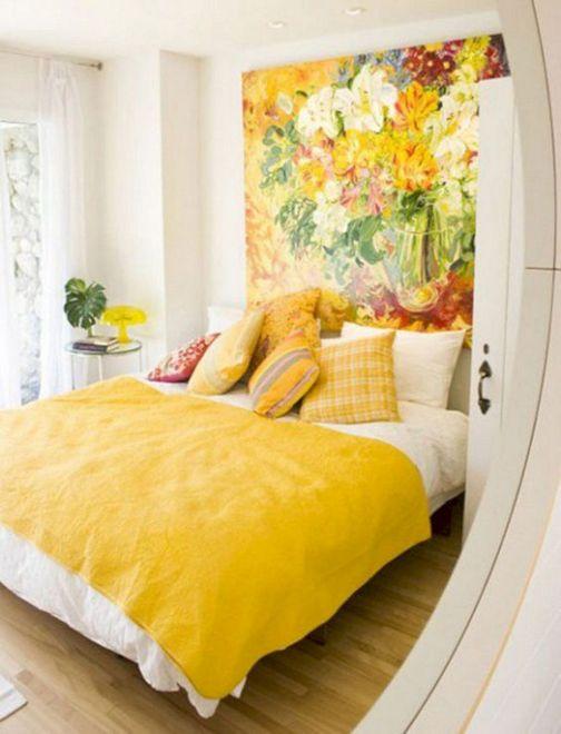 Incredible Yellow Aesthetic Bedroom Decorating Ideas 5