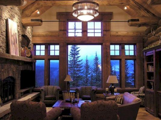 Log Cabin Interior Living Room