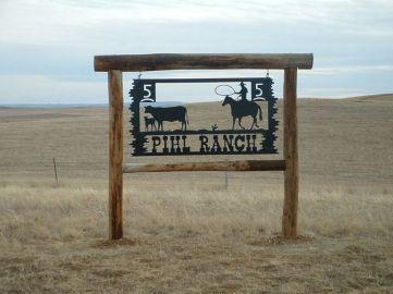 Metal Ranch Entrance Signs