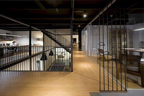 Modern Industrial Office Design Idea