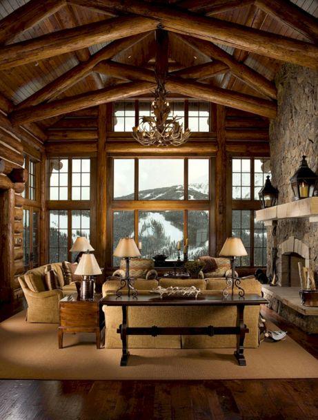 log cabin living room. Mountain Log Cabin Living Room Decor 35  Incredible Ideas For Cool Design DECOREDO