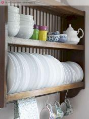 DIY Plate Rack Inside Cabinet