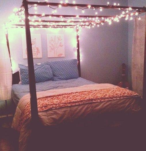 Bedroom Fairy Light Canopy