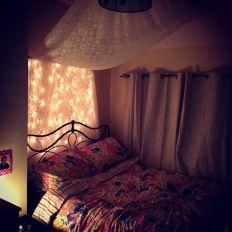 Bedroom with Fairy Lights ideas