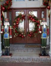 Double Door Christmas Decorating Ideas
