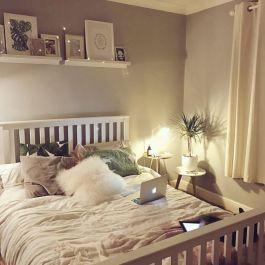 Fairy Lights Bedroom Idea