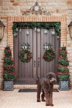 Planter Front Door Christmas Decorating Ideas