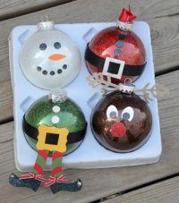 Christmas Glass Ornament Craft Ideas
