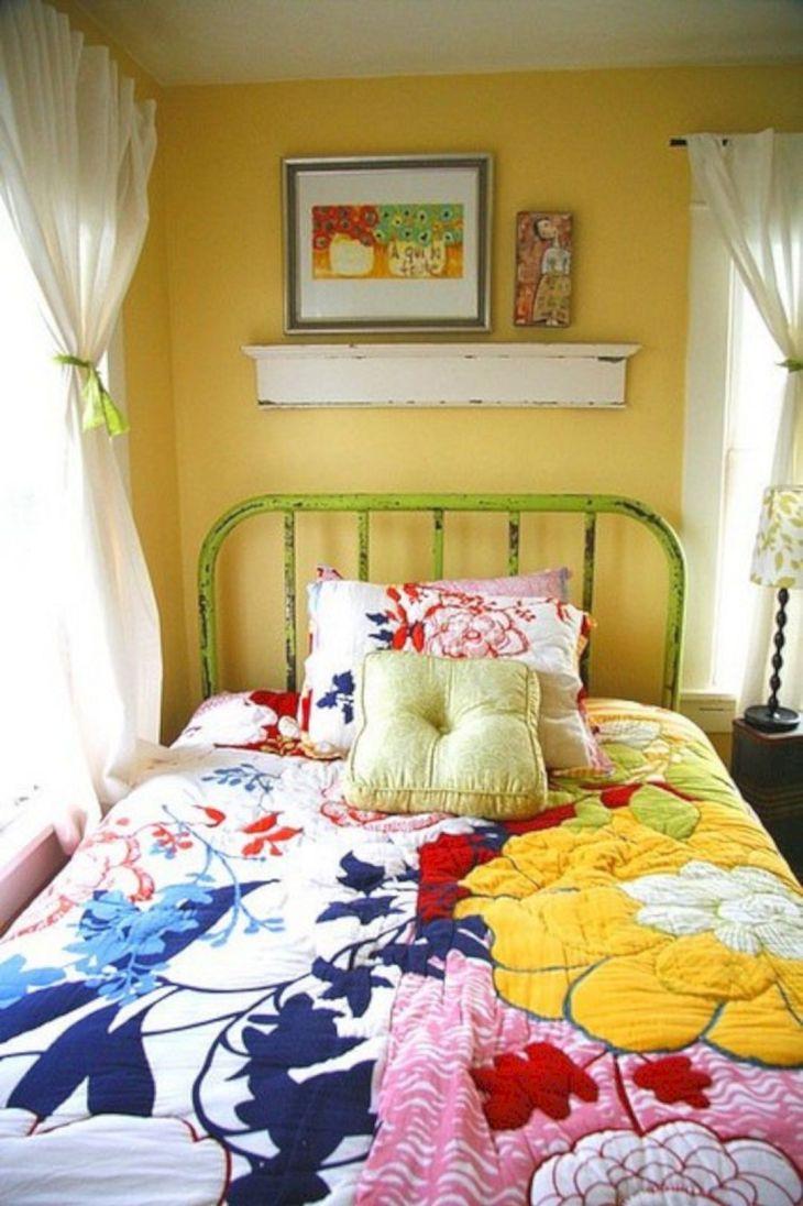 Colorful Vintage Bedroom