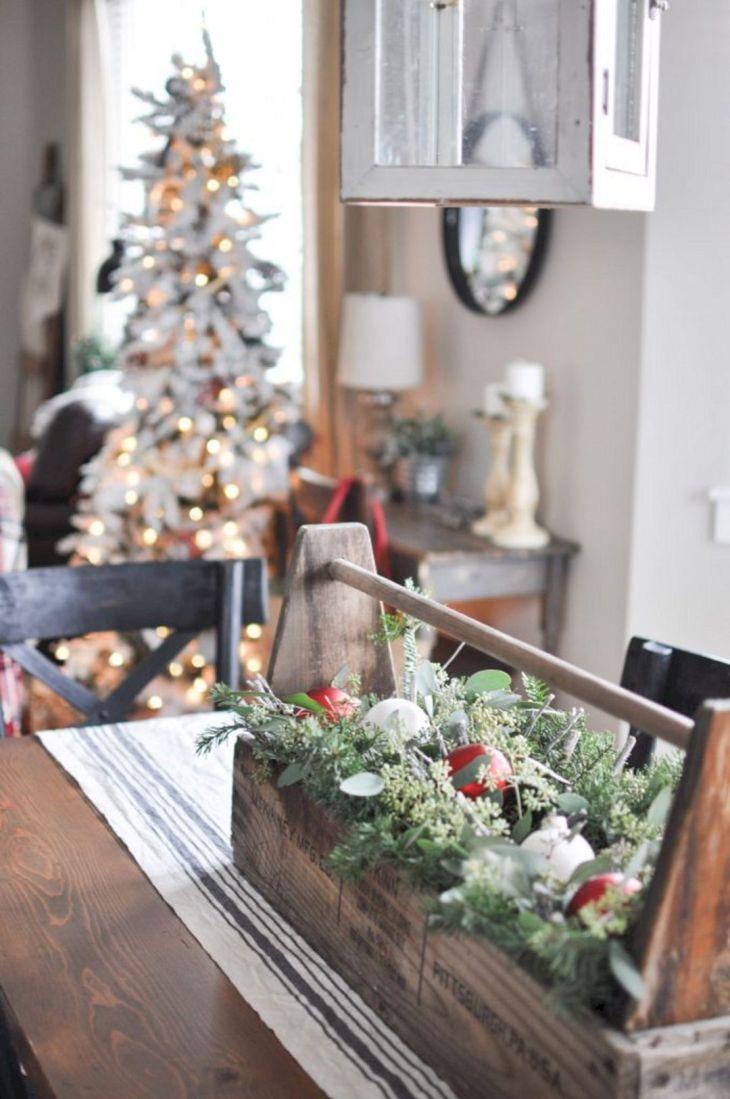 Farmhouse Dining Room Christmas Ideas