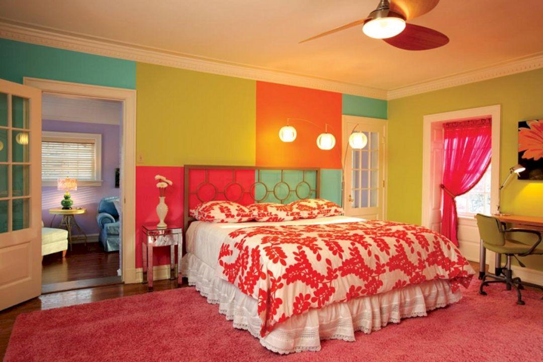 Pink and Orange Bedroom Walls for Girls – DECOREDO