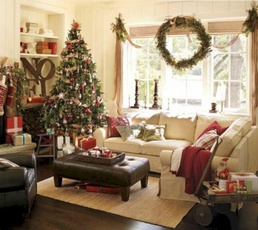 Pottery Barn Christmas Living Room Ideas Decoredo
