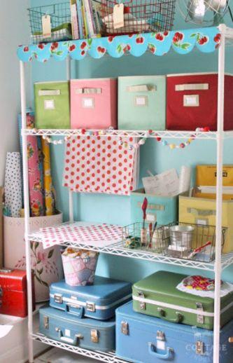 Vintage Craft Room Storage Ideas