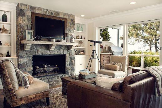 Awesome coastal living room decor