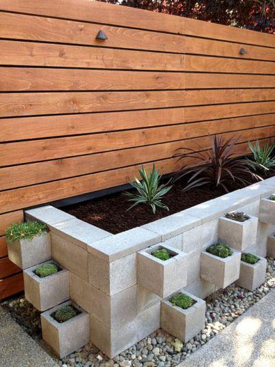 Cinder Block Planter Idea