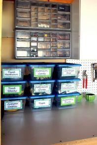 Garage Storage Bin Organization