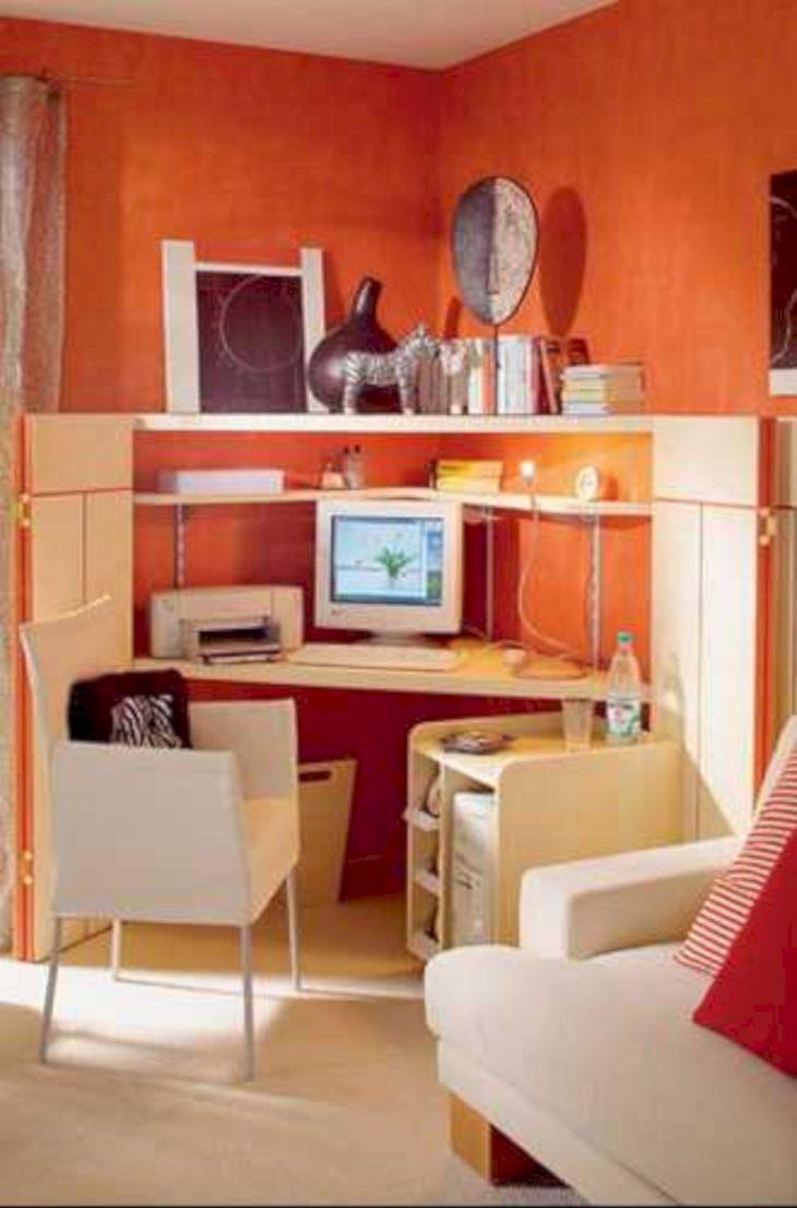 Orange Paint Color Ideas for Home Office