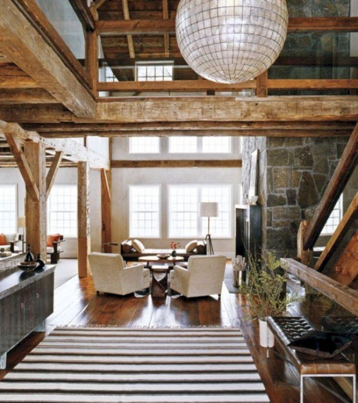 Rustic Modern Barn Interior