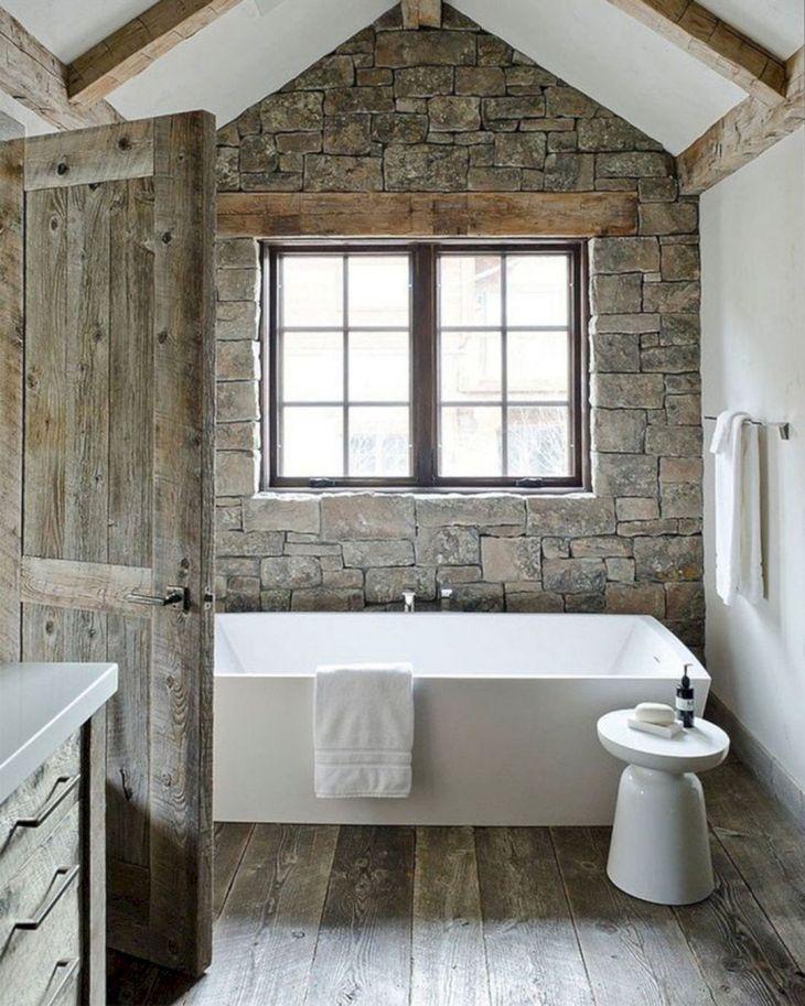 Rustic Modern Bathroom Design