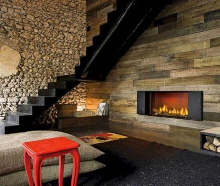 Rustic Modern Fireplace