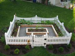 Vegetable Garden Rail Fence Ideas Interior