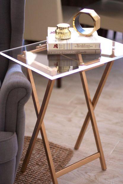 Acrylic Folding TV Tray Tables