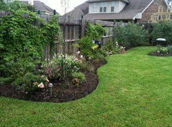 Backyard Landscaping along Privacy Fence