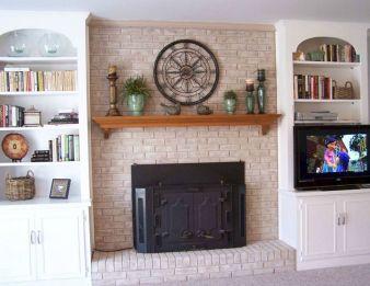Brick Fireplace Mantel Decorating Ideas