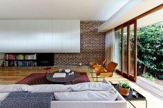 Brick Wall Design Modern Contemporary Living Room Ideas