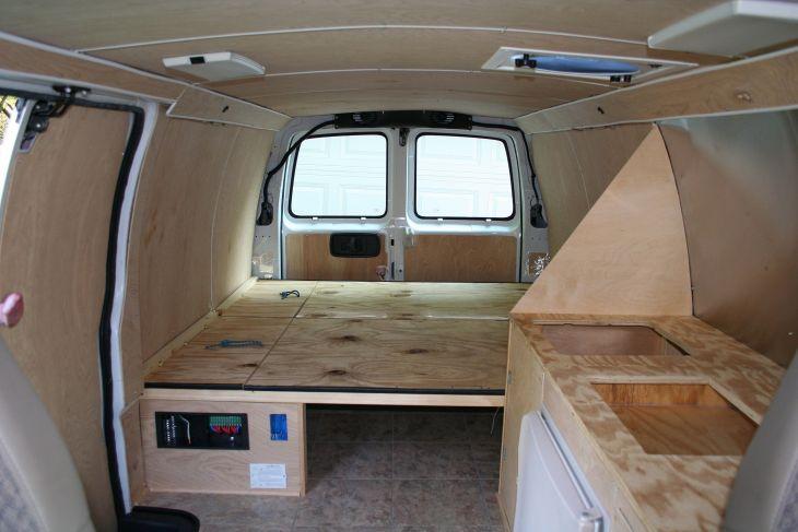 Chevy Camper Van Interior