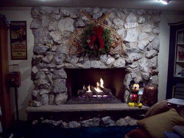 Christmas Fireplace Ideas Stone