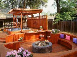 Deck with Hot Tub Design Ideas