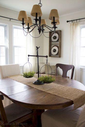 Farmhouse Dining Room Table Centerpieces