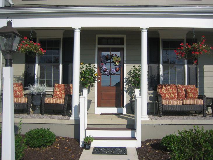 Front Porch Furniture Decorating Ideas