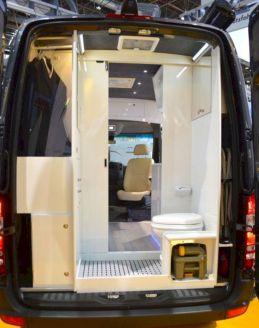 Mercedes Sprinter Camper Van Interior with Bathroom