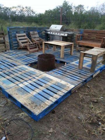Pallet Patio Deck