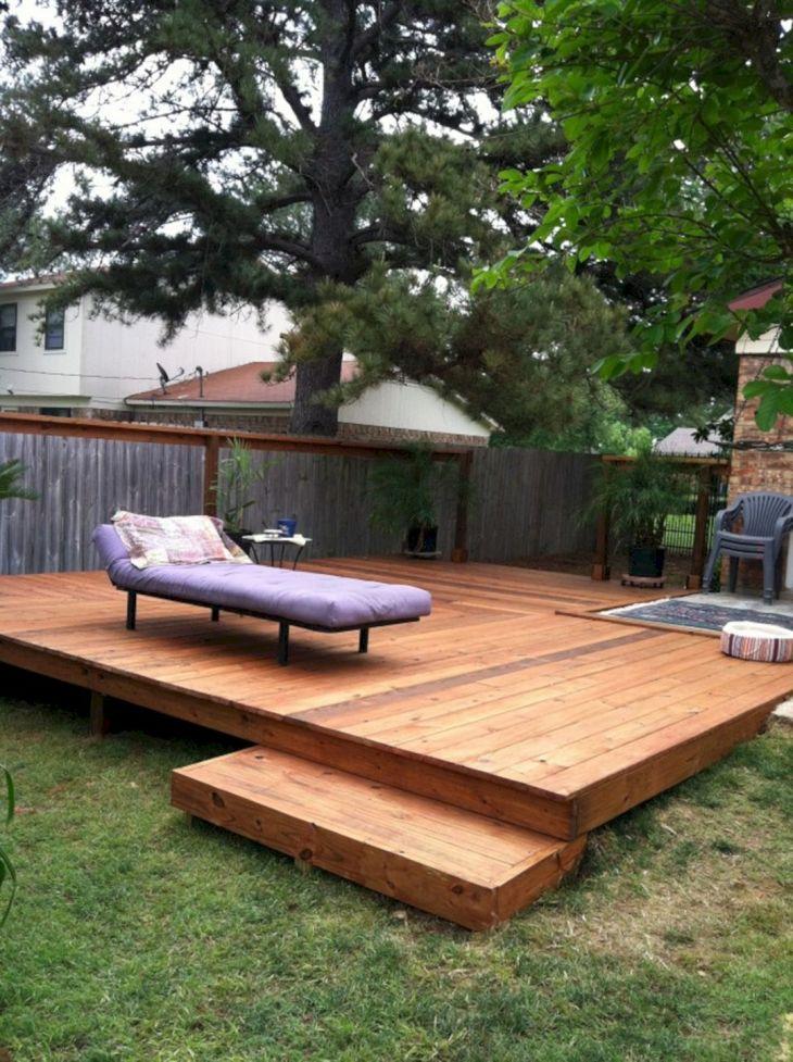 smalls backyard deck design - Wood Deck Design Ideas